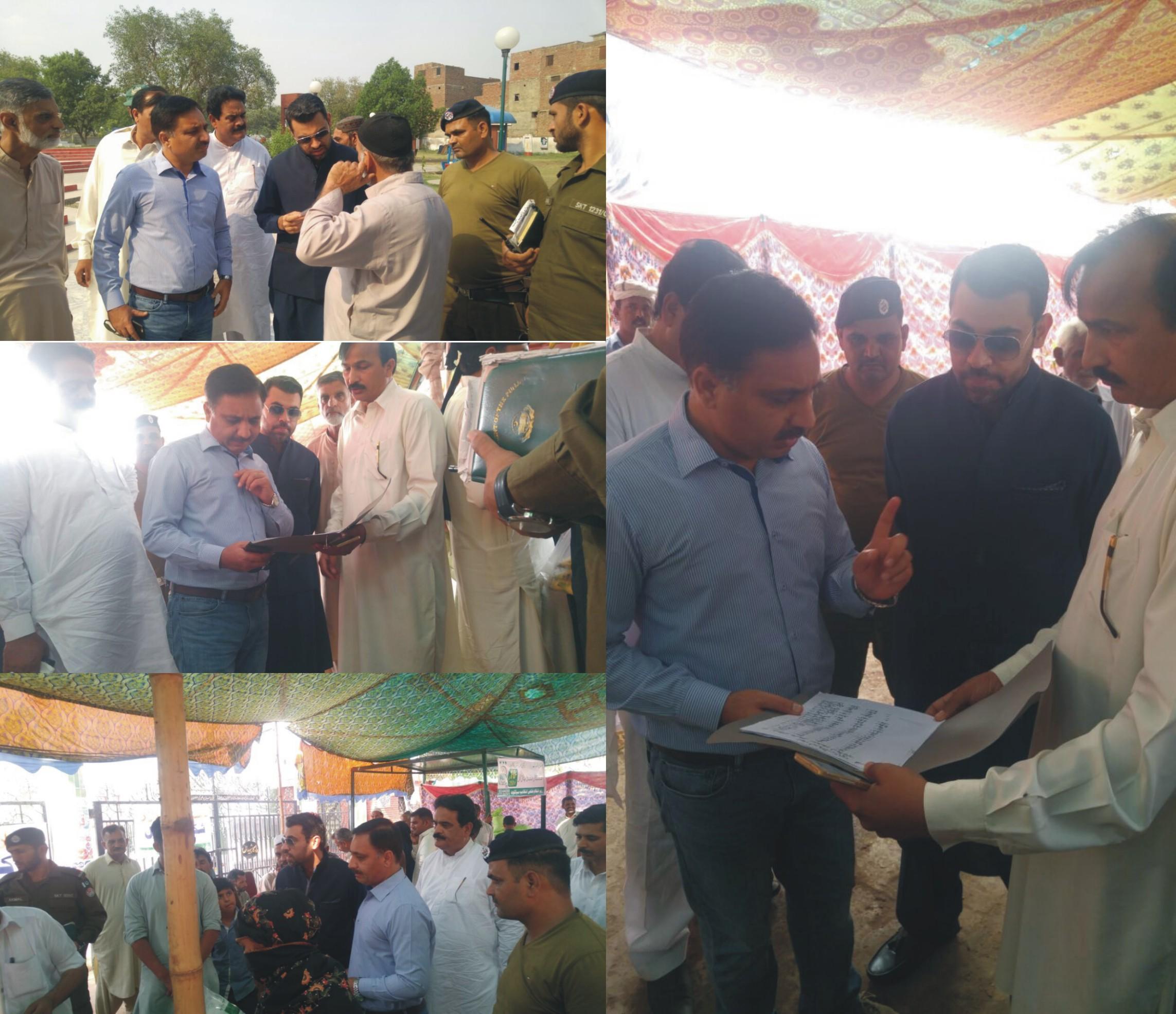 ADC Pasrur Visit to Ramzan Bazar